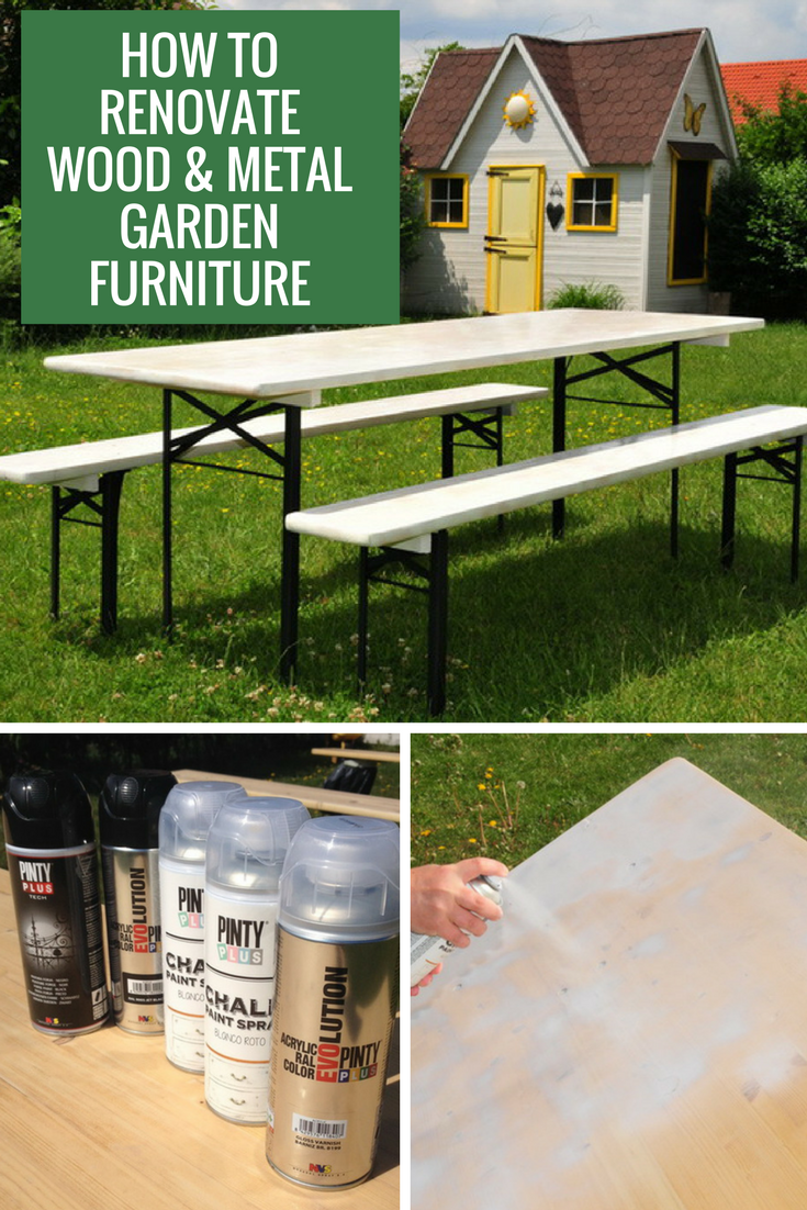 How To Paint Outdoor Furniture With Pinty Plus Chalk Paint Spray Pintyplus