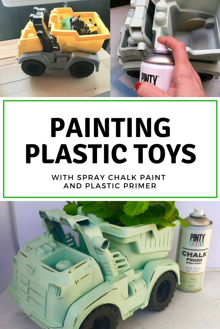 How to upcycle plastic toys with Pinty Plus spray paint ...