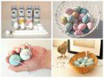 painting polystyrene easter eggs using spray chalk paint