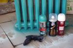 respraying iron radiators