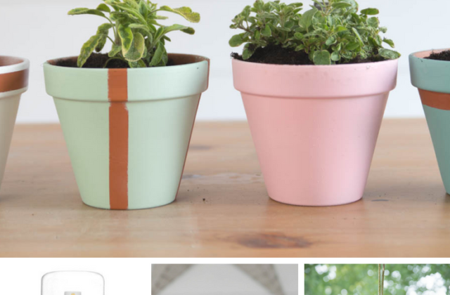 how to paint terracotta pots with spray paint