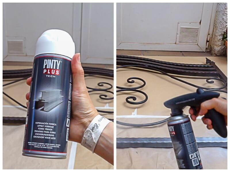 painting an iron headboard