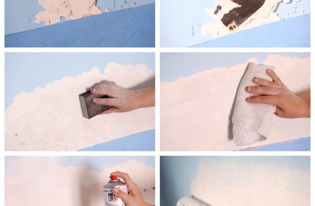 how to remove peeled paint from damp walls