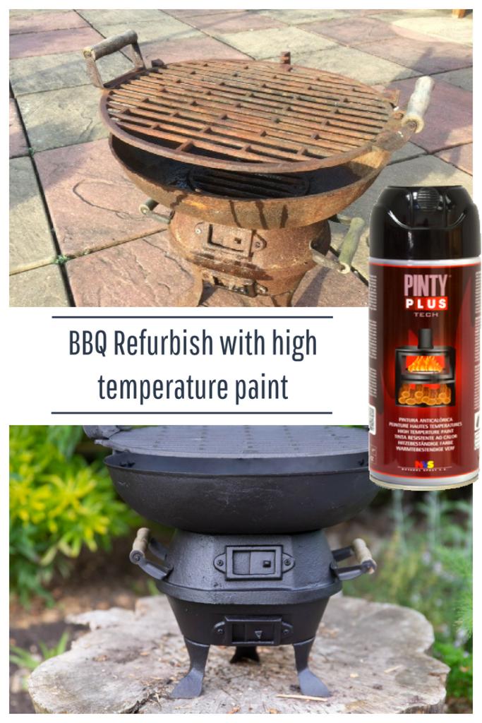 bbq refurbishment using high temperature paint