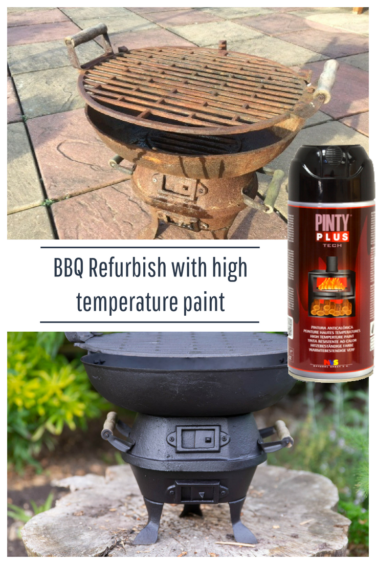 bbq refurbishment using high temperature paint