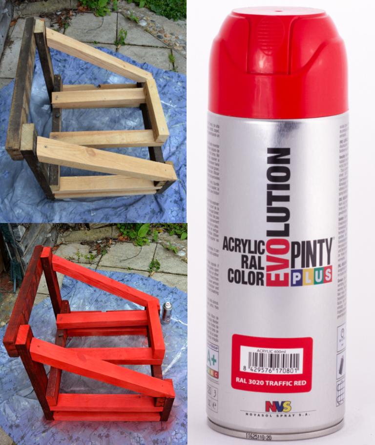 spray acrylic paint used for bath tub upcycle