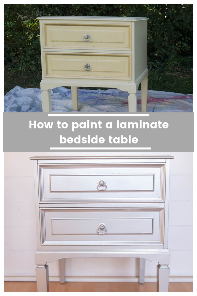 how to spray paint a laminate bedside table (with video)