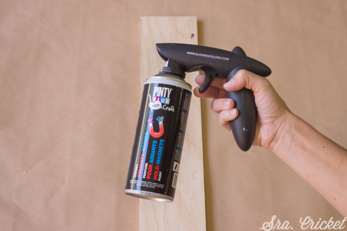 spray paint that creates a magnetic surface