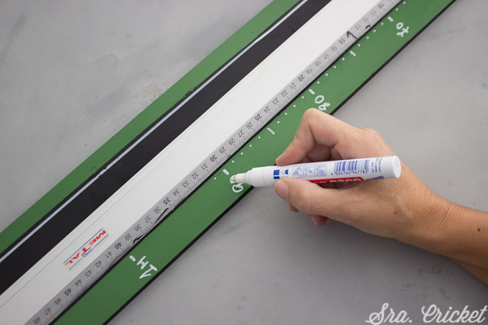 tutorial how to make a magnetic height chart with spray paint