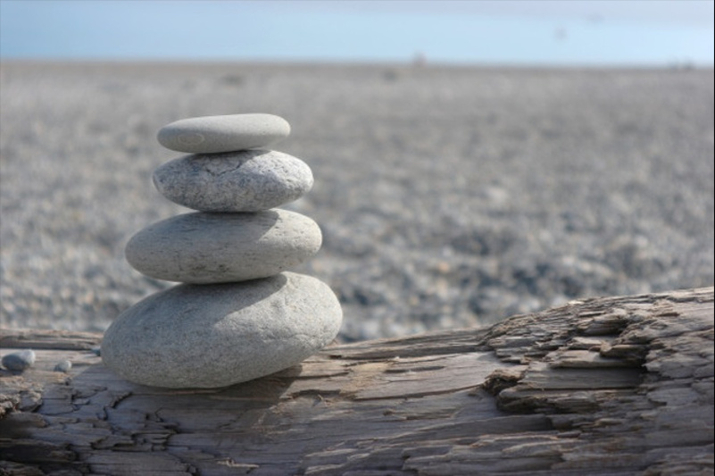 stackable pebble tower