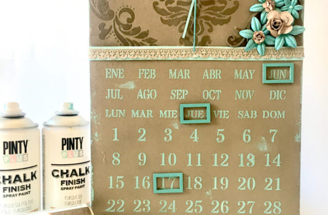 DIY perpetual calendar using magnetic spray paint