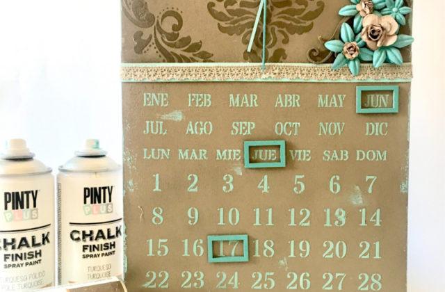 DIY perpetual calendar using magnetic spray paint