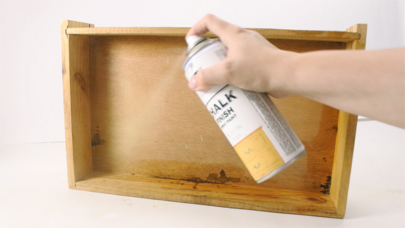 Spray Painting Inside Drawers