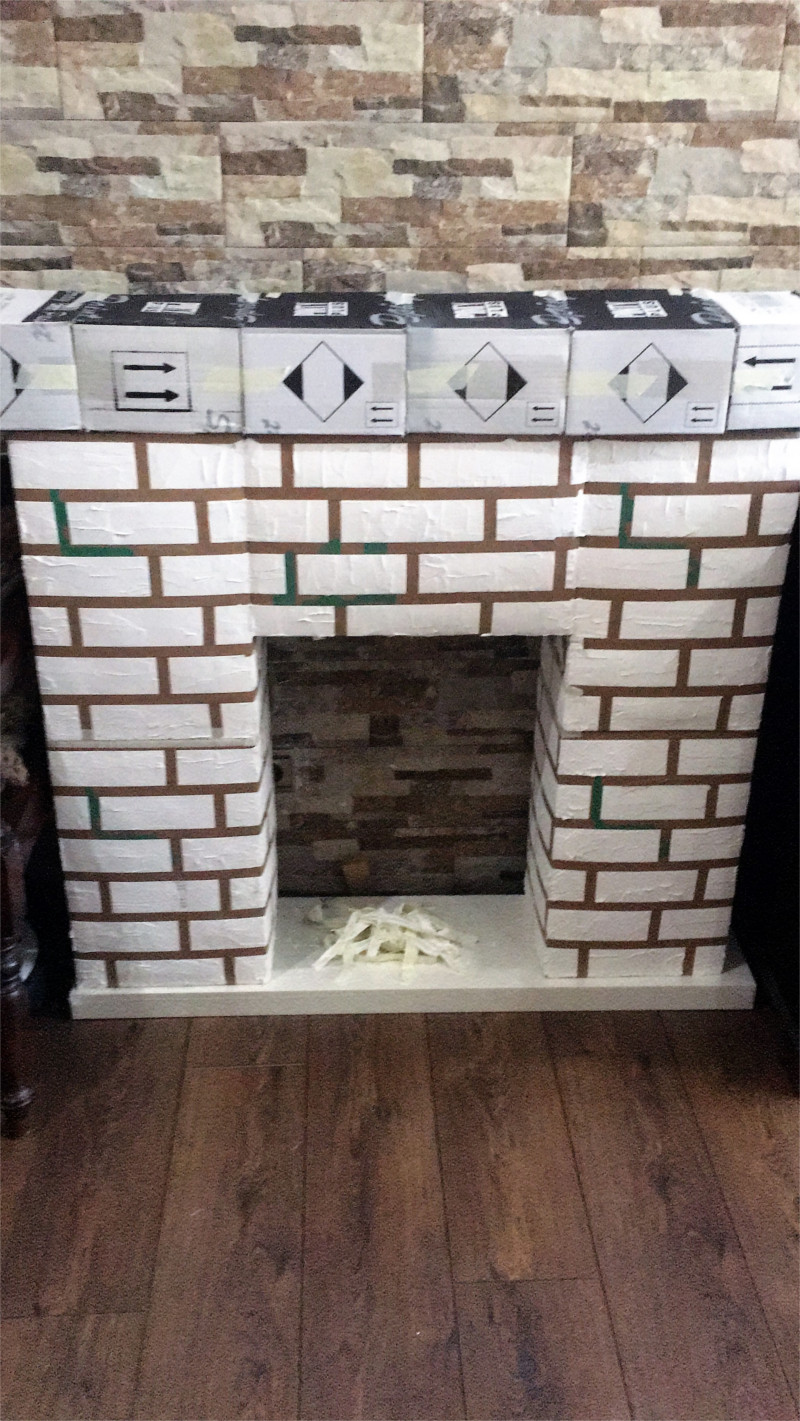 artificial christmas fireplace