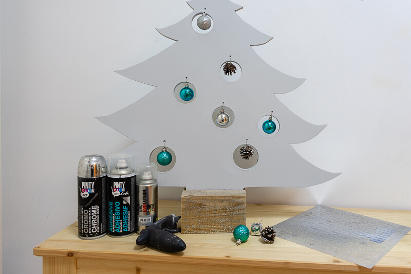 christmas craft project MDF christmas tree