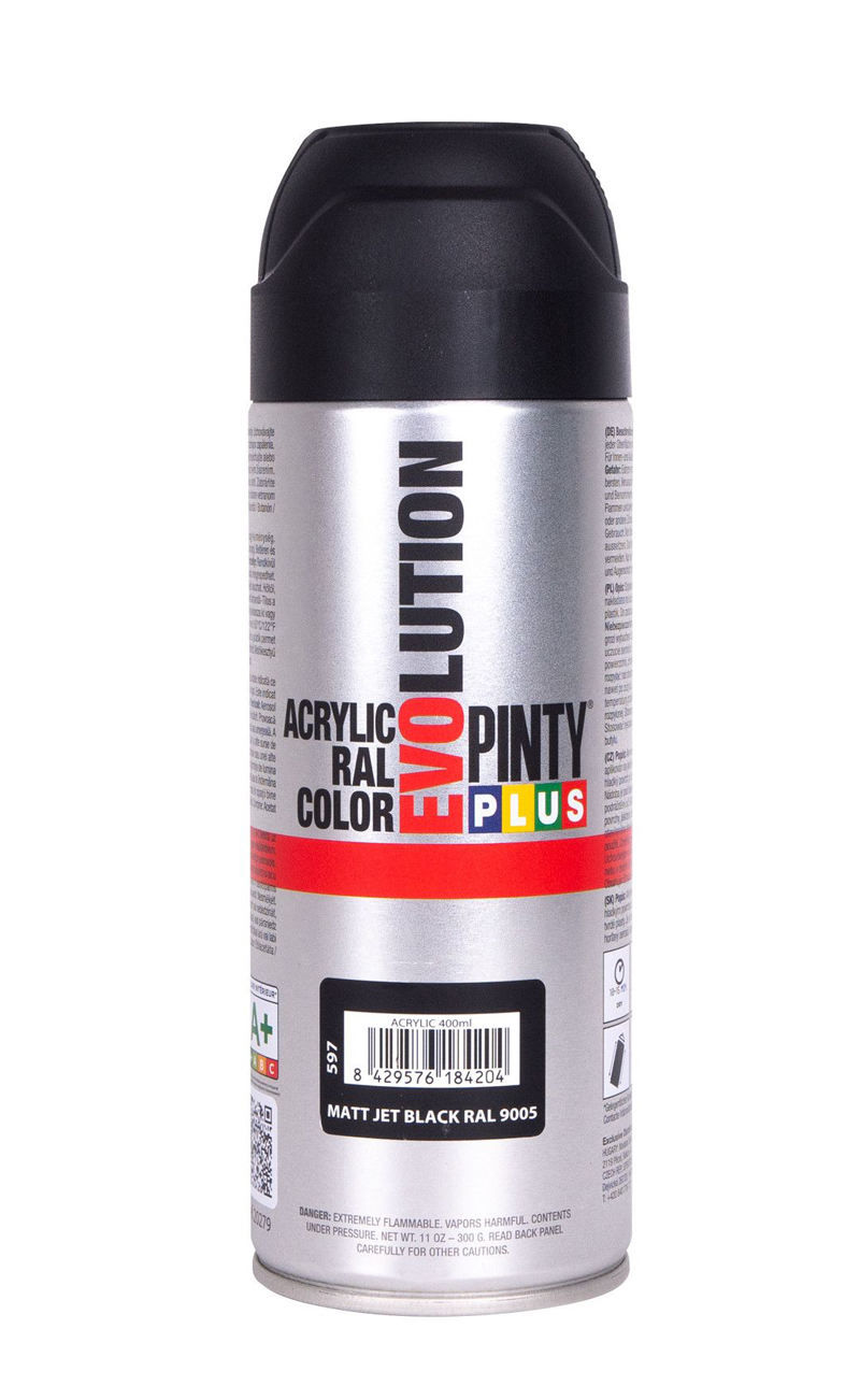 pintyplus evolution spray paint black