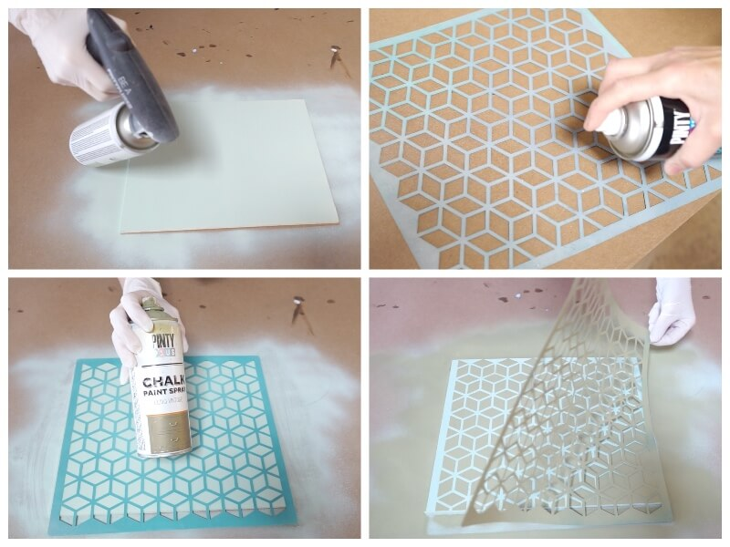 how to paint a stencil picture using spray paints