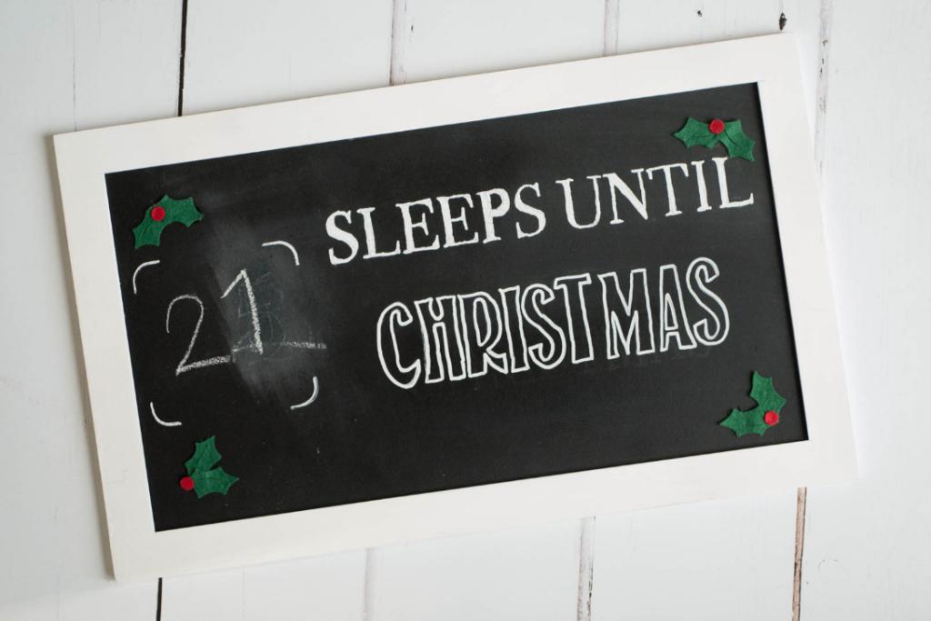 countdown to christmas board diy