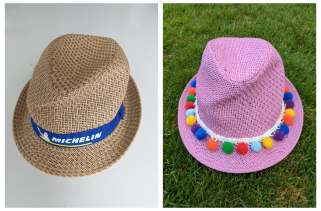 how to paint a straw hat