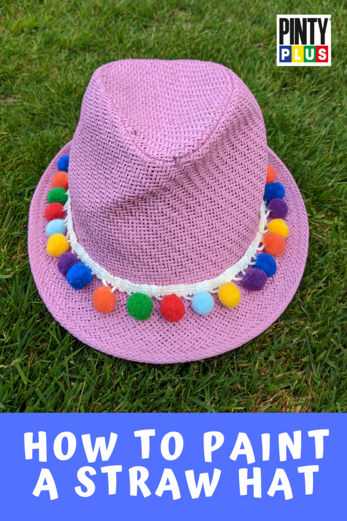 Give an old straw hat a new look by painting it with spray paint, in this tutorial we show you how!