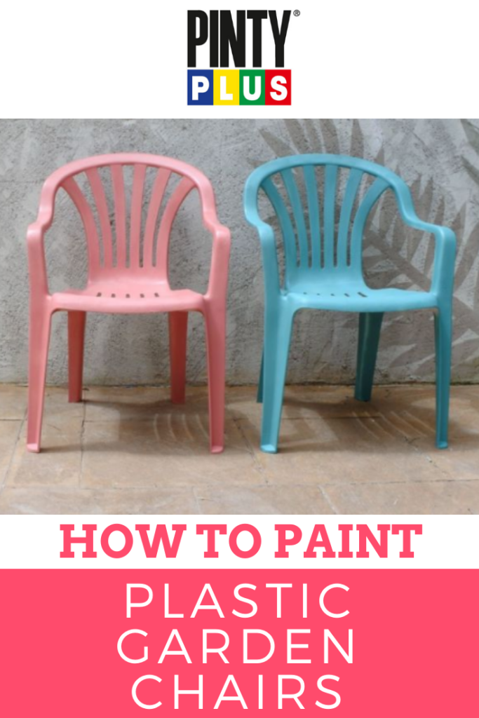how to paint plastic garden chairs with spray paint