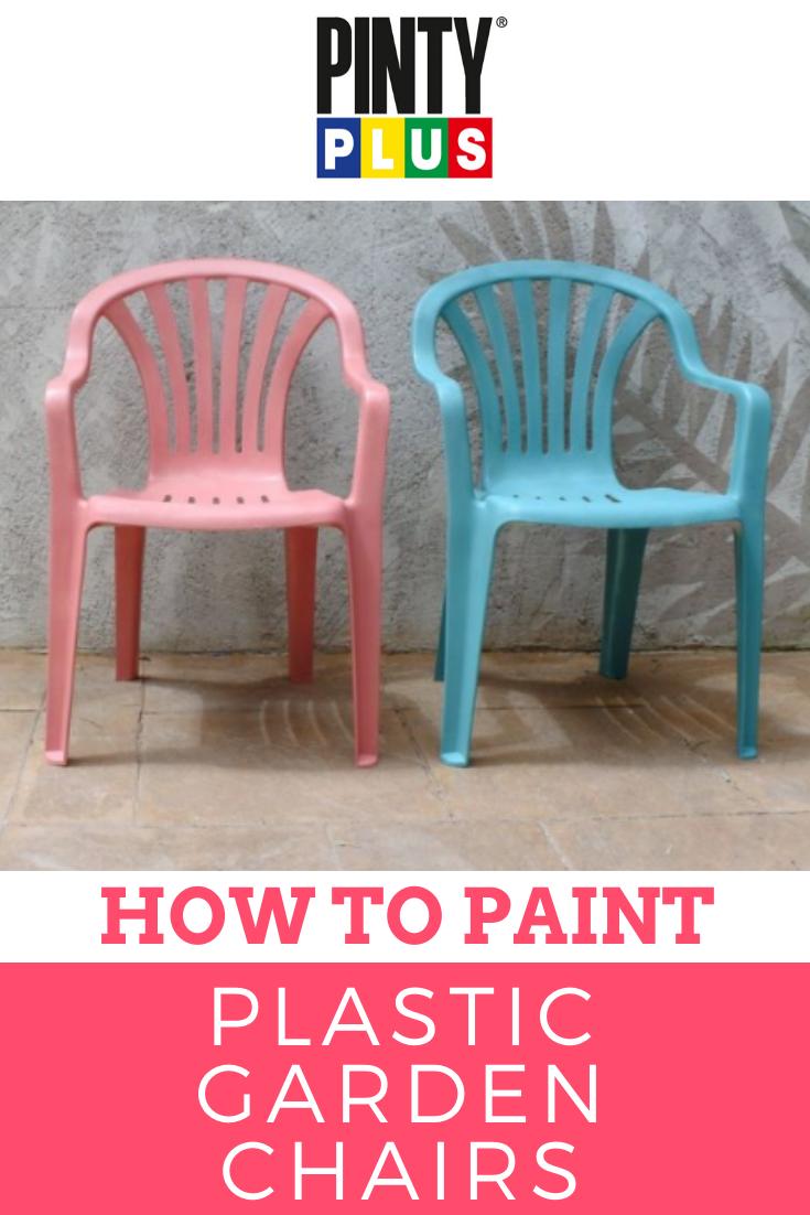 How to paint plastic garden chairs - Pintyplus