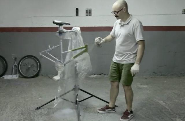How to spray a bike
