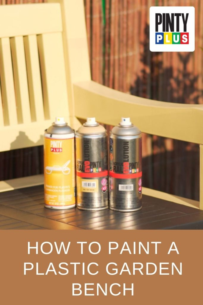 how to paint a plastic garden bench using spray paint